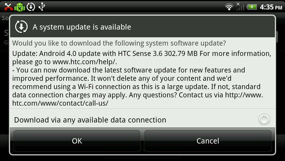 HTC Sensation ICS