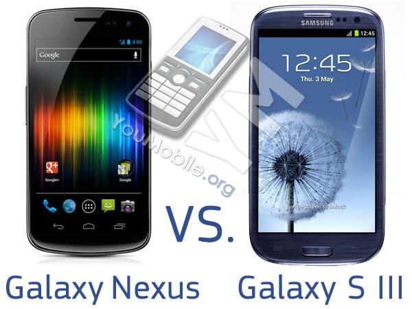 Galaxy s III vs. Nexus