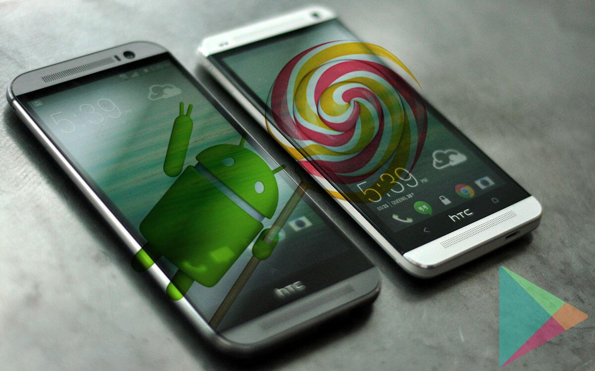 HTC one m8 htc one m7 lollipop GPE