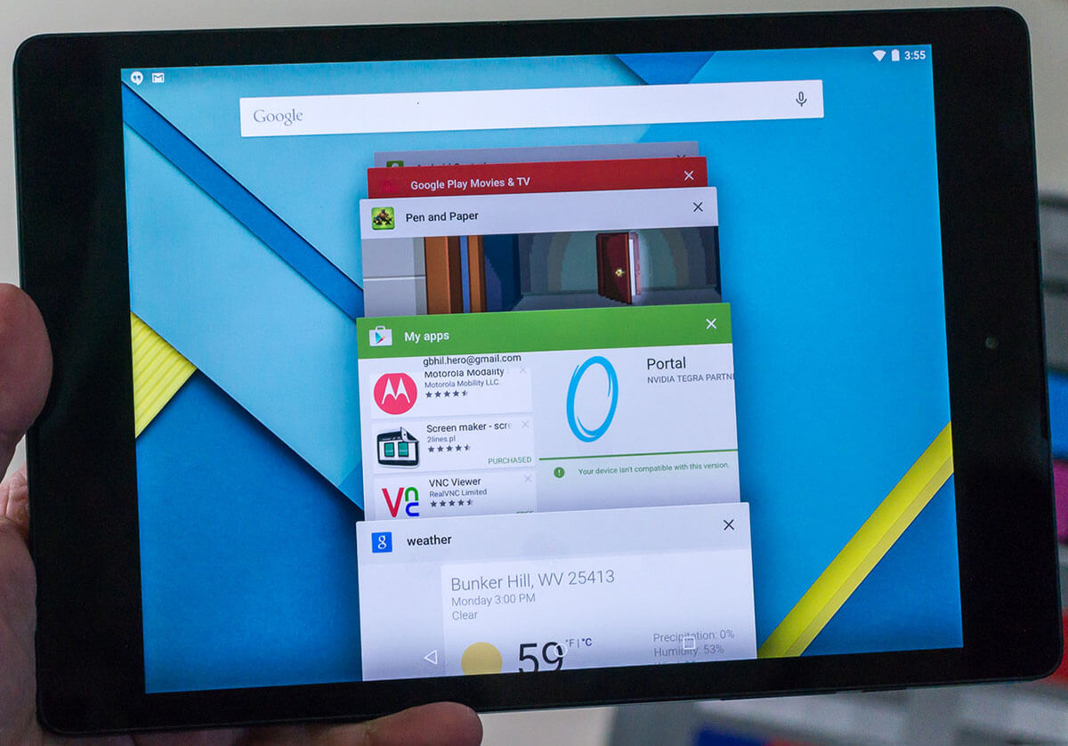HTC Nexus 9 Lollipop 5.1.1 update