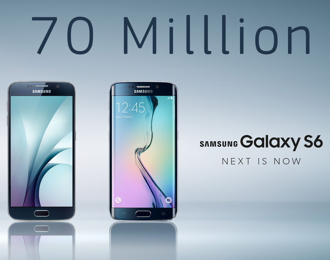 Galaxy S6 70 million sales