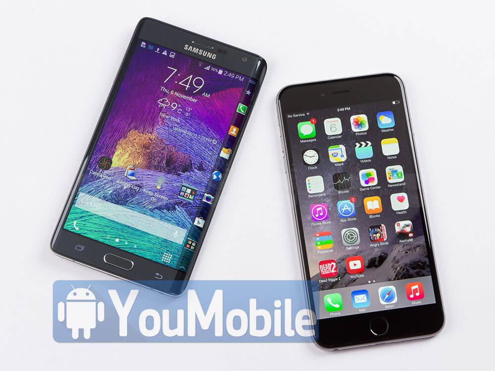 Galaxy Note Edge - iPhone 6 Plus