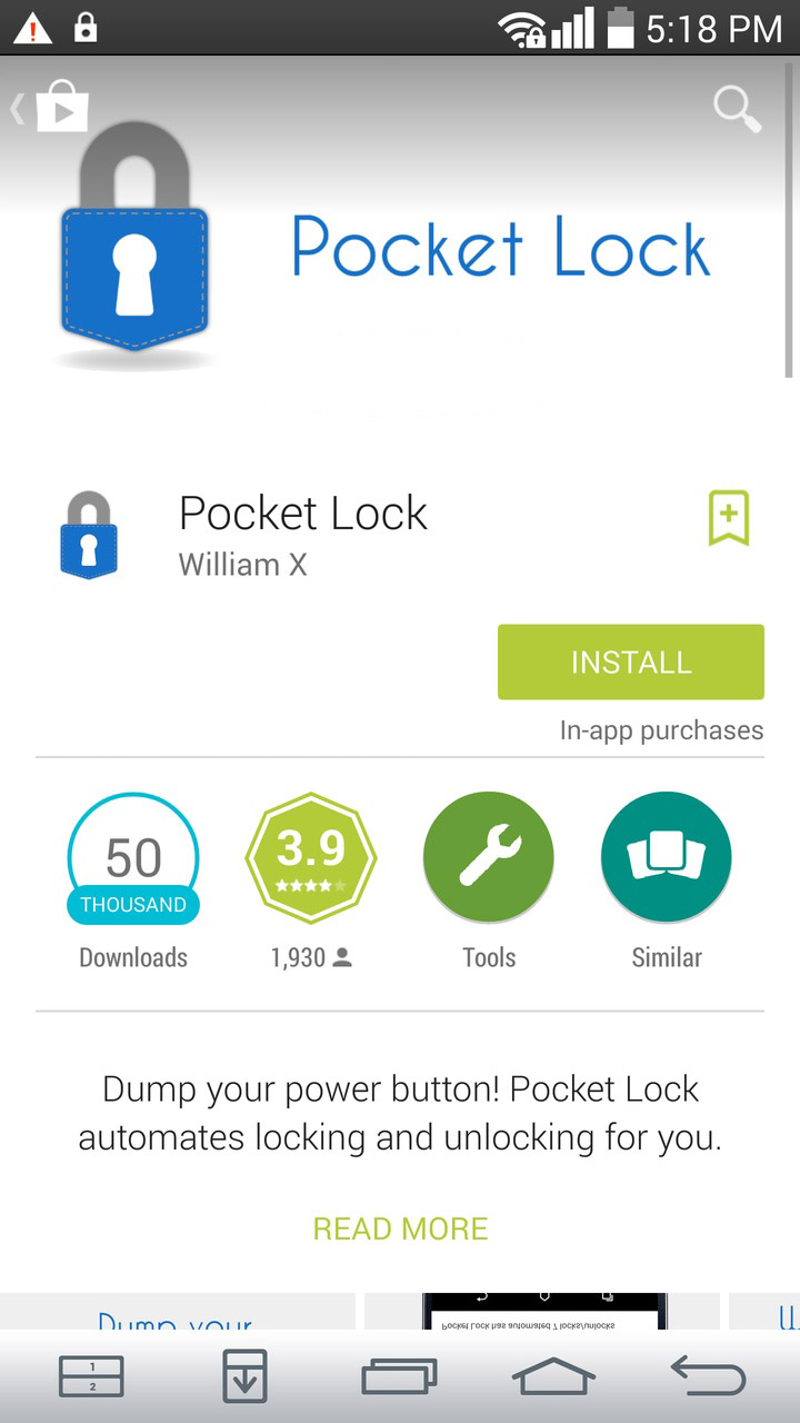 Pocket lock