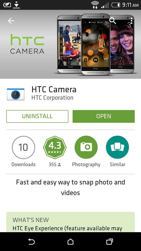 HTC Camera app