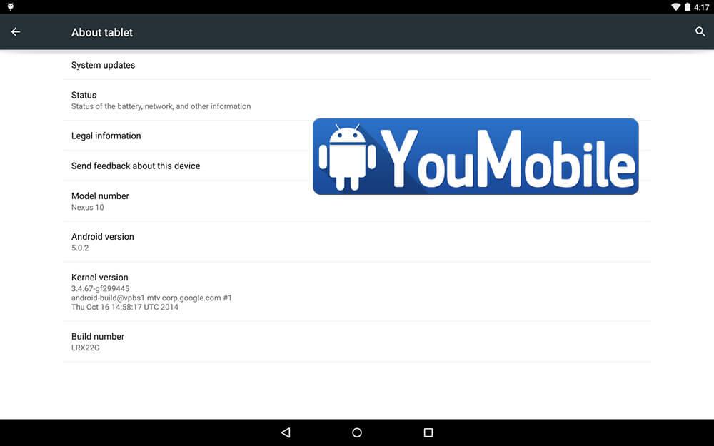Nexus 10 OTA