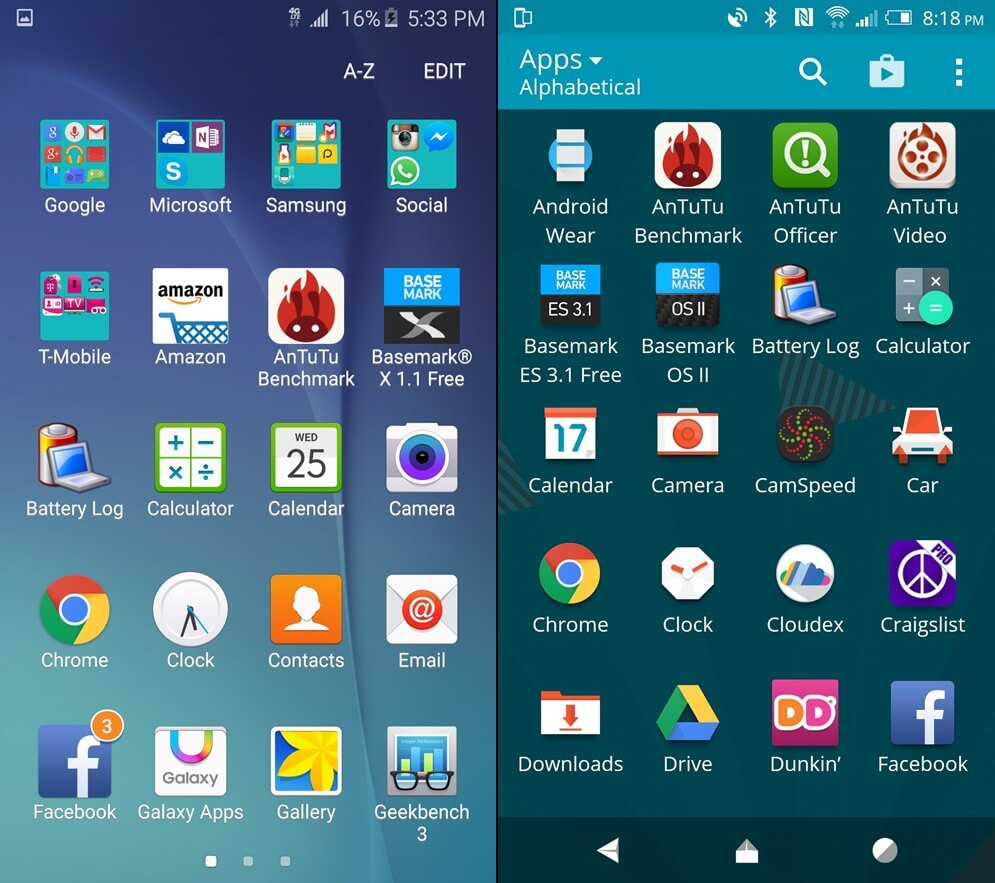 touchwiz vs htc sense 7
