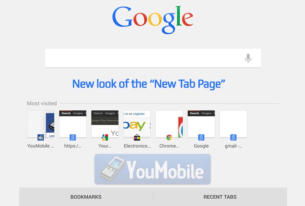 Google New look NTP