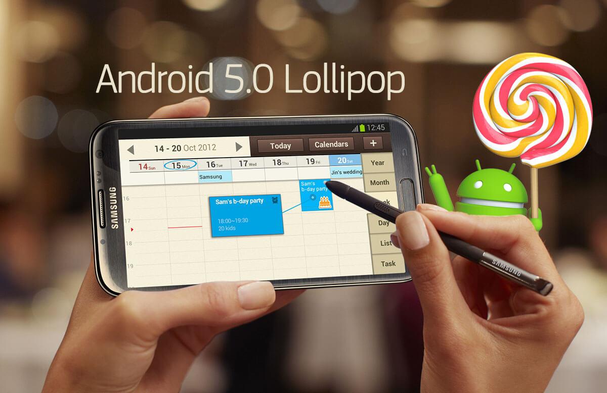 Samsung Galaxy Note 2 Lollipop
