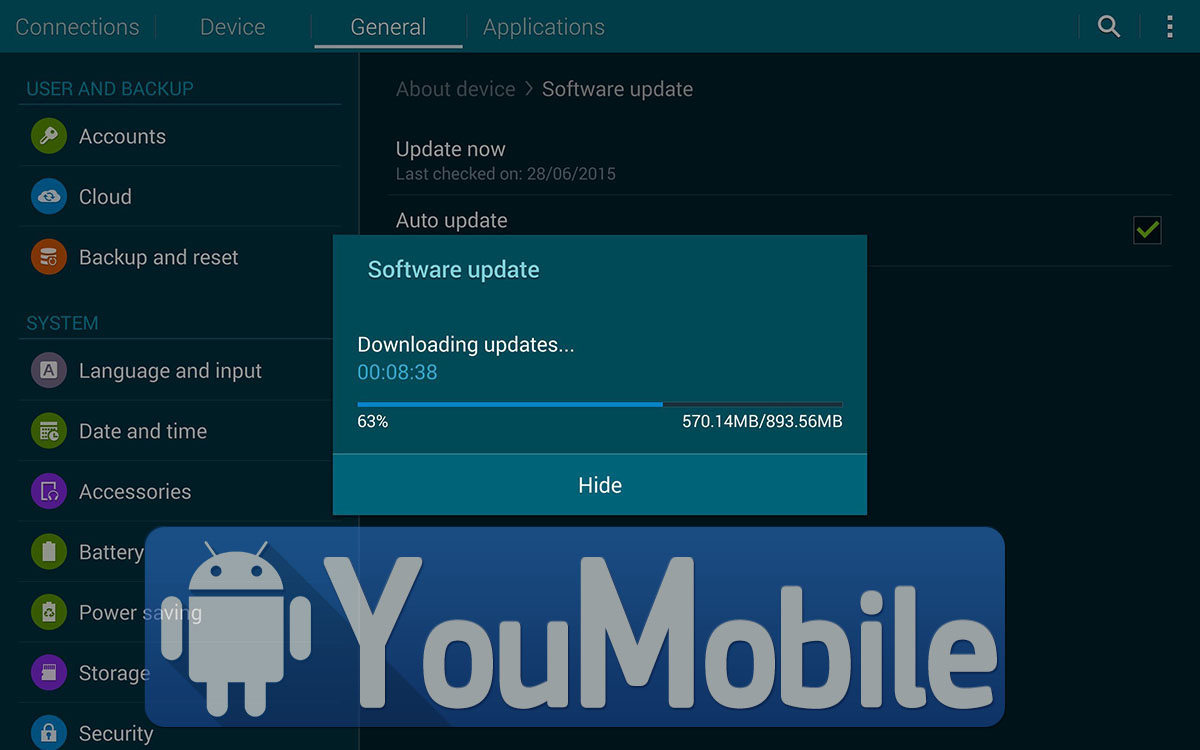 Galaxy Tab 4 8.0 Lollipop update