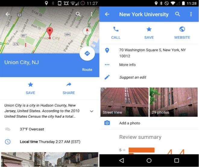 Google maps 9.1 screenshot