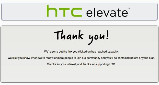 HTC elevate