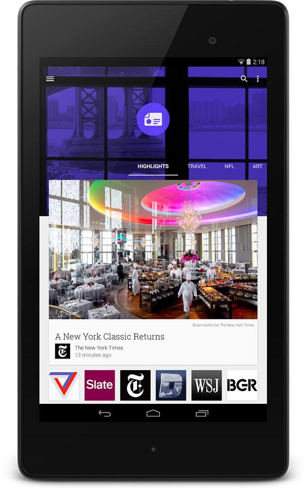 Newsstand Nexus 7