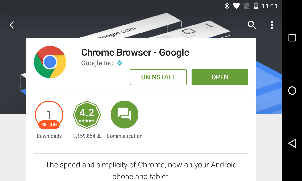 Chrome play store
