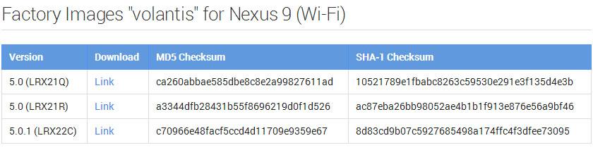 Nexus 5.0.1