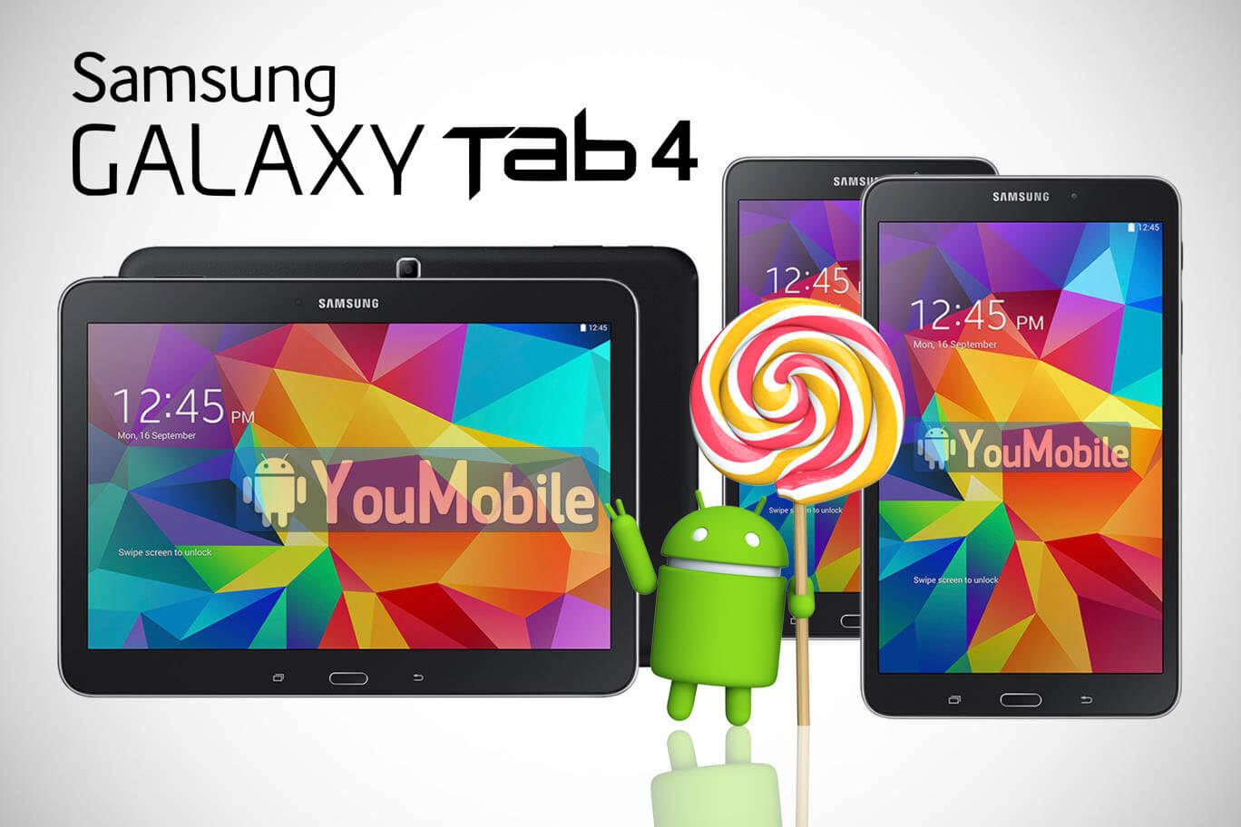 Galaxy Tab 4 Official Lollipop update