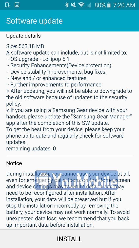 Galaxy S6 5.1.1