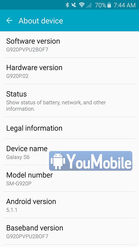 Galaxy S6 Lollipop 5.1.1